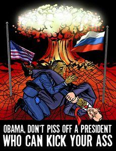 Vladimir Putin Armbars Barack Obama