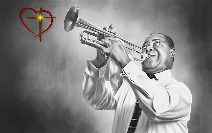 Louis Armstrong Saints Go Marching - Gallery Hope The Art of Loving Kindness