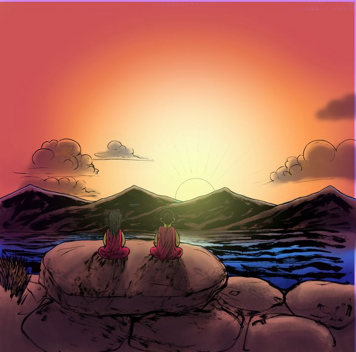 Sunset Meditation in Tibet - Gallery Hope The Art of Loving Kindness