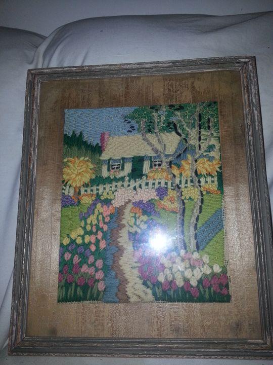 old crochet art piece. - moses  jones