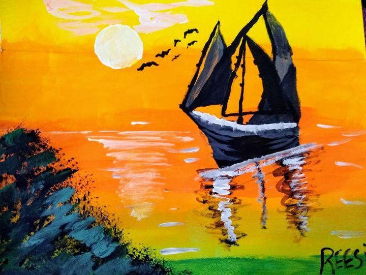 Moonlight sea - Reesi's Art