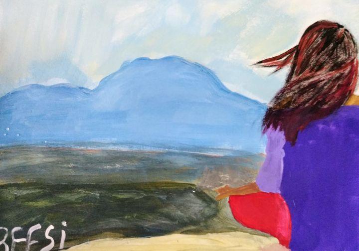 A lady at peace - Reesi's Art