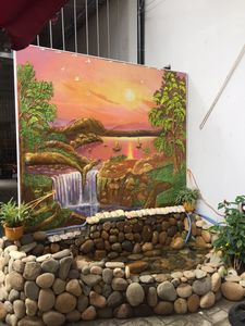 Relief mural painting