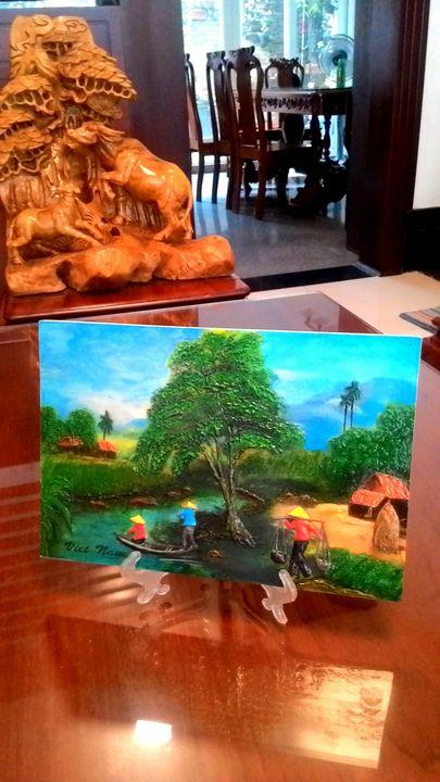 Relief mural art painting - Hanh Nguyen