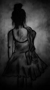Feelings of a lady standing