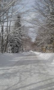 Snow Covered Vermont Back Road