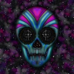 Psychedelic Space Skull