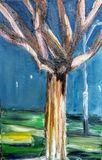 Naked tree,acrylic paiting