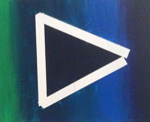 triangle with gradient background