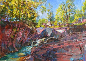 Spring in the mountains, painting