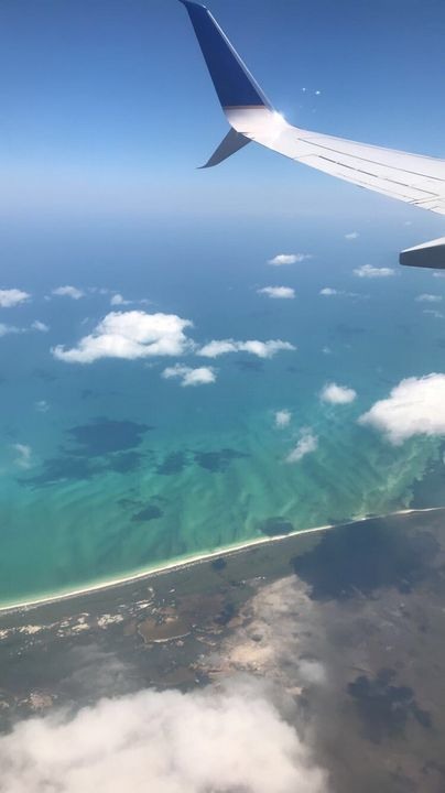Sky and water from airplane view - MrzNay art