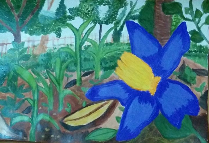 The Blue Flower - Sindhu's Paintings