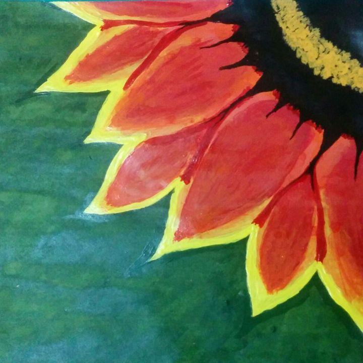 The Big Orange Flower - Sindhu's Paintings