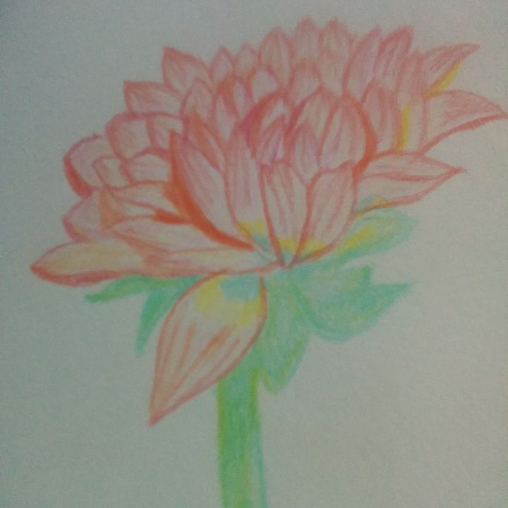 The Lonely Flower - Sindhu's Paintings