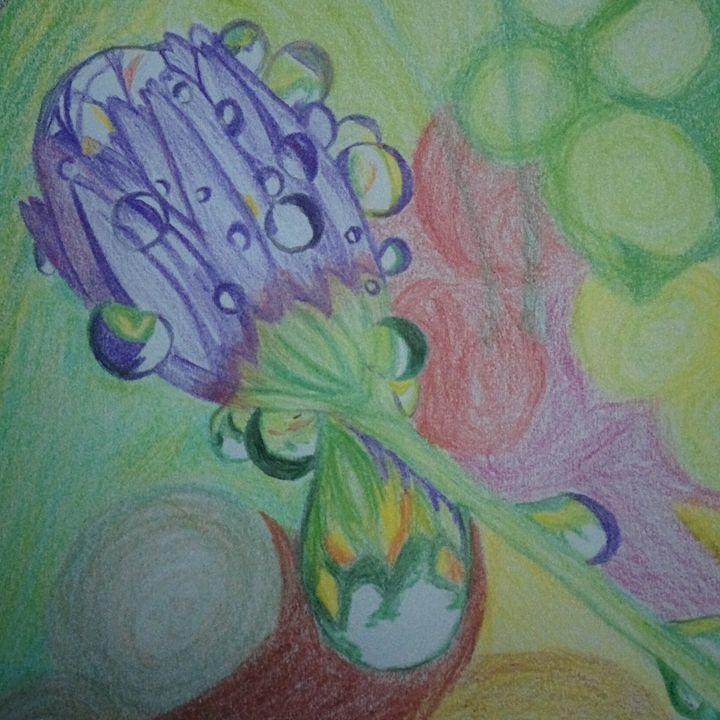 Purple Bud - Sindhu's Paintings
