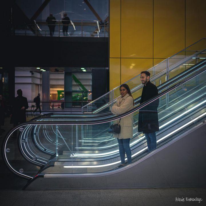 Crossrail Place Escalators #1 - Alexis Nethercleft