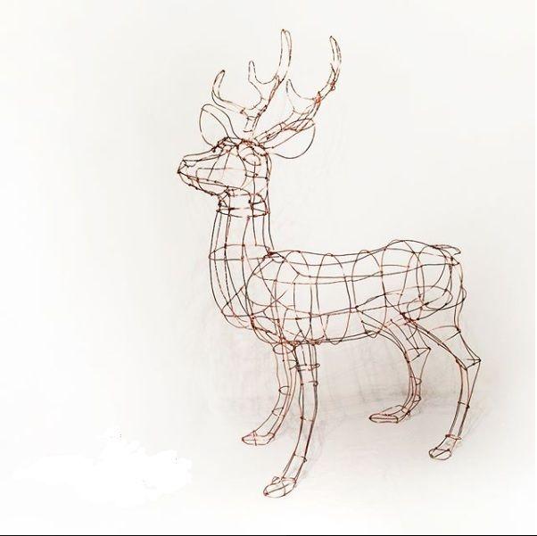 Vintage wire sculpture - deer - PK