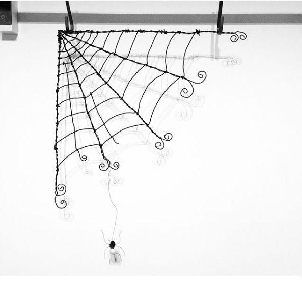 Vintage wire sculpture - Cobweb - PK