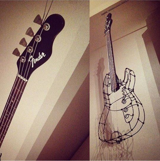 Vintage wire sculpture - Guitar - PK
