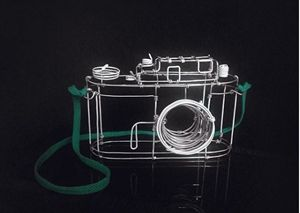 Vintage wire sculpture - Camera