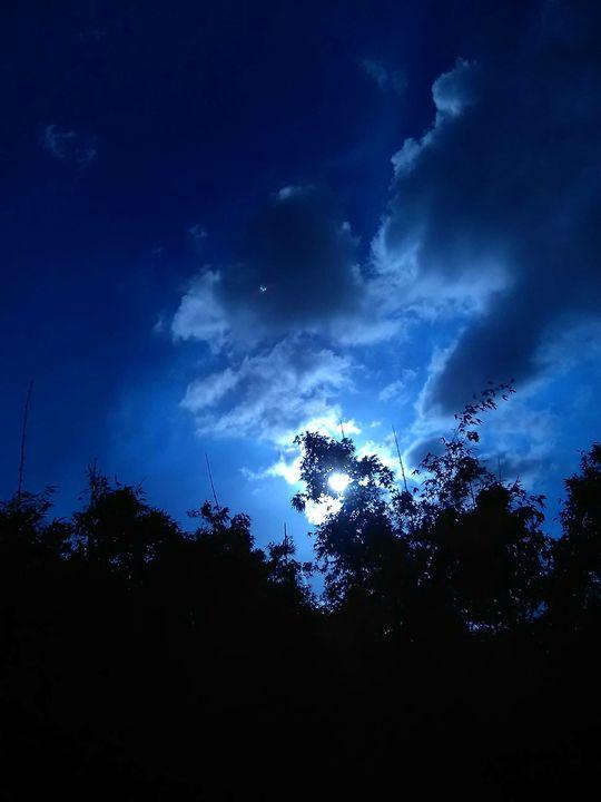 night sky from my balcony - mukuldeep maiti