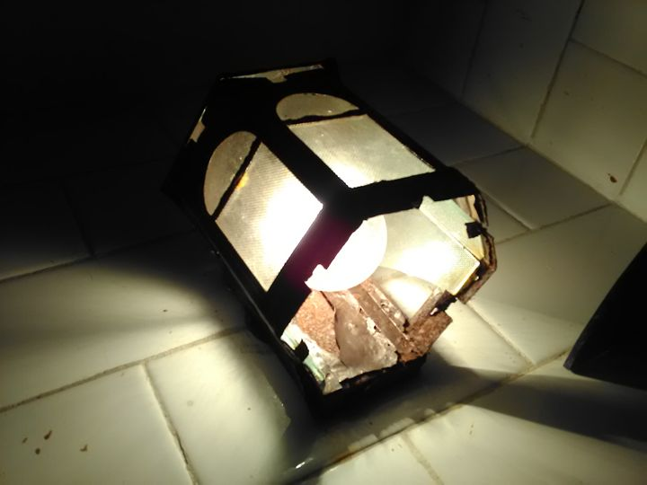 rusted old lamp in my bathroom - mukuldeep maiti