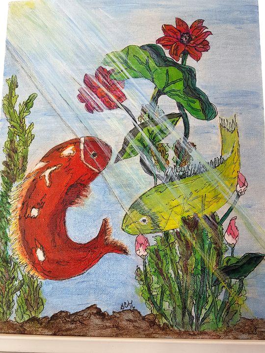 Koi pond - Gayle Lowe