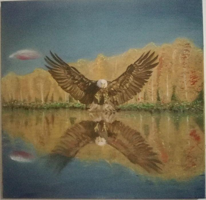 eagle reflections - Marios peirounakis