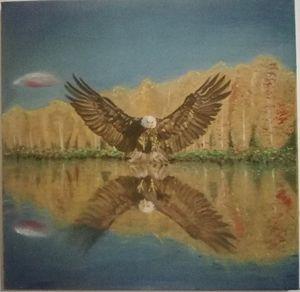 eagle reflections