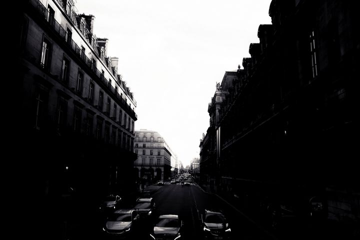 Streets In Paris Silhouette - Christopher Maxum Photography