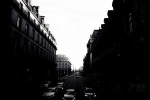 Streets In Paris Silhouette