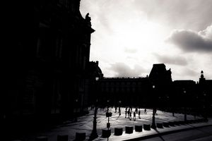 Silhouettes Of The Louvre