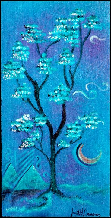 Periwinkle Twilight - Blue Dragon Medicine Art