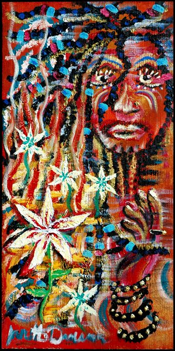 Forgiveness of a Rasta Man - Blue Dragon Medicine Art