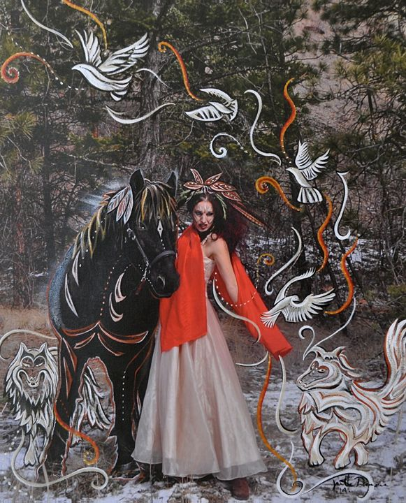 Unleash The Beast - Blue Dragon Medicine Art