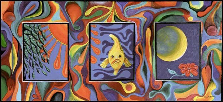 Fish Bewildered - Blue Dragon Medicine Art