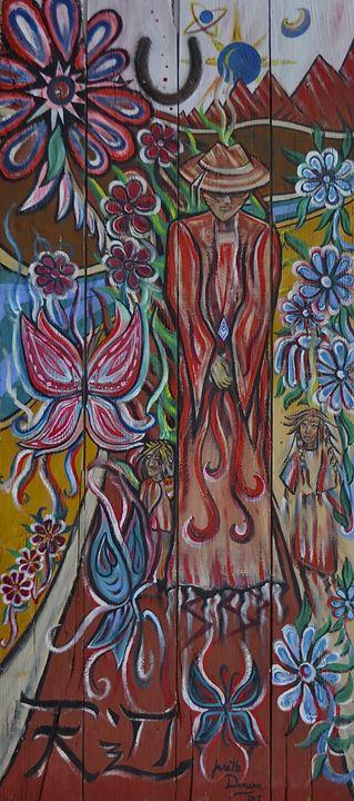 Walking Between Worlds - Blue Dragon Medicine Art