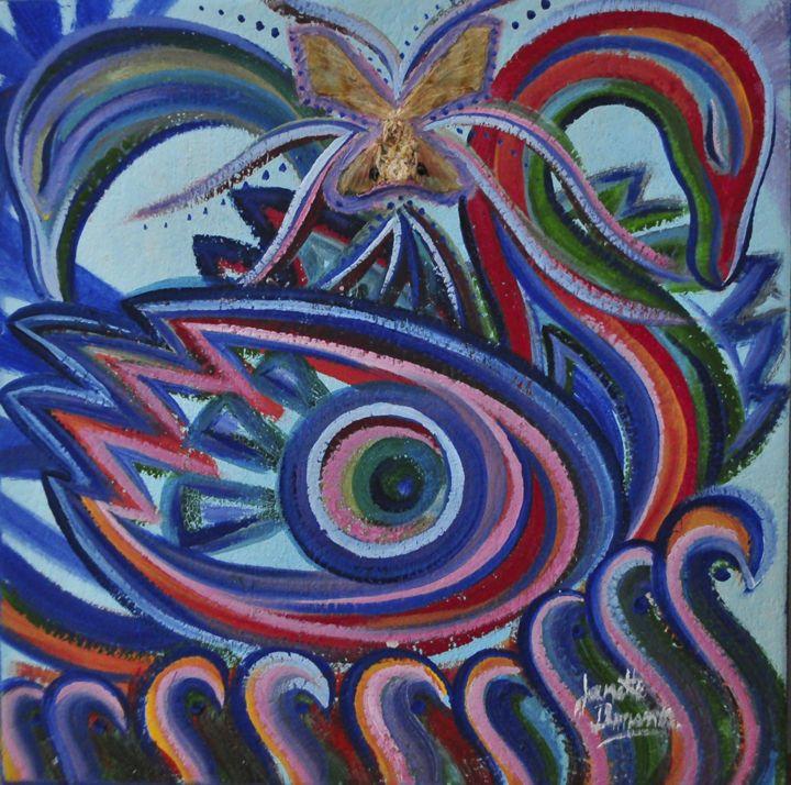 Amma Swans - Blue Dragon Medicine Art