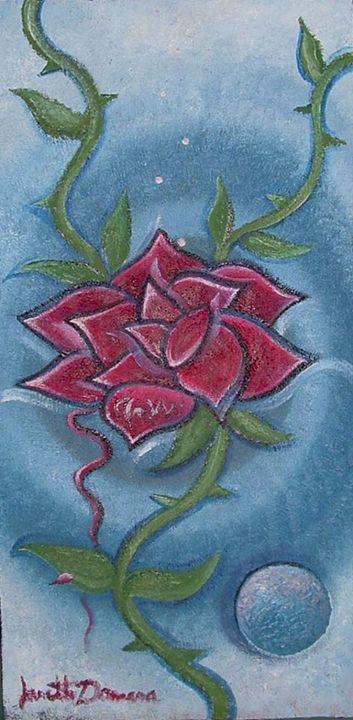 Tentacular Rose - Blue Dragon Medicine Art