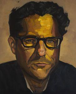 Oil painting portrait study