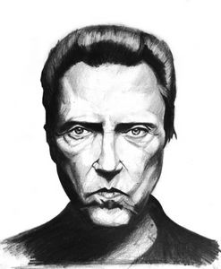 Christopher Walken pencil portrait