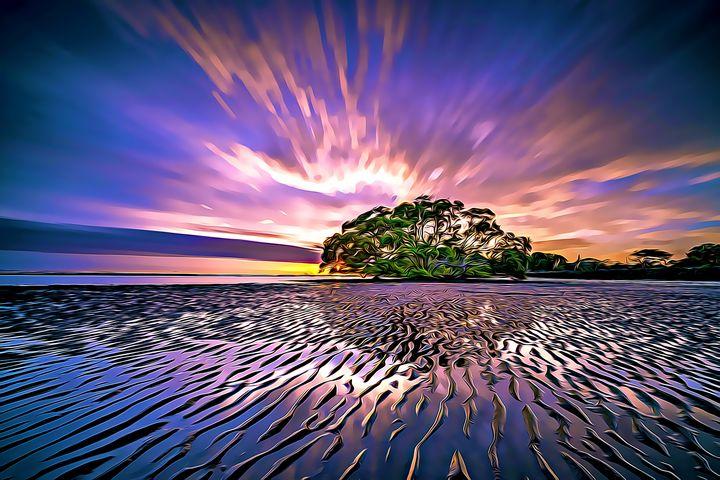 Violet Island Sunset - Wilson Colfax