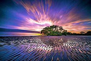 Violet Island Sunset