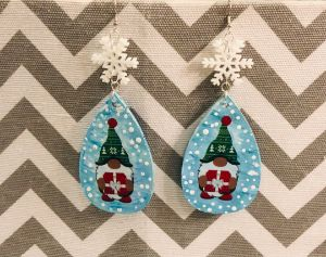 Christmas Gnome Earrings - Art By Trishia K
