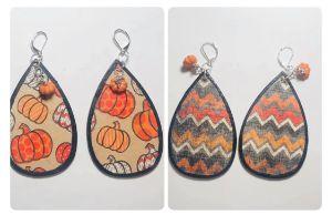 Reversible Pumpkin Earrings Pair # 1