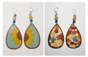 Reversible Sunflower Earrings Pair#2