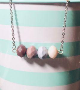 Purple Ombre Bead Bar Necklace