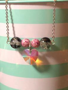 Heart Bead Bar Necklace
