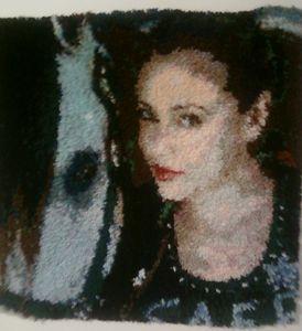 Alyssa Milano and horse