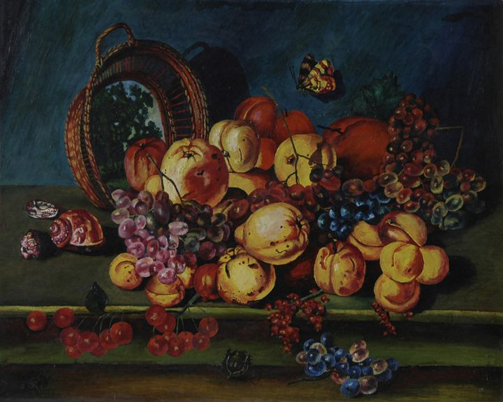 2.      Still life with a Butterfly. - Art Galeery Leonid